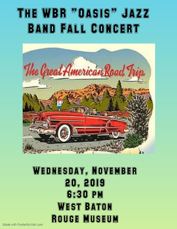 WBR Oasis Jazz Band Fall Concert Flyer