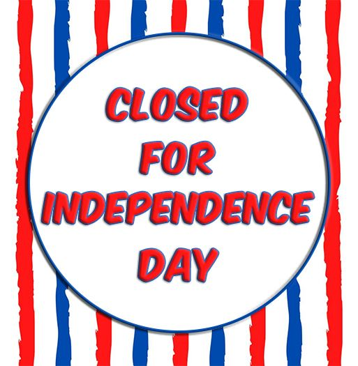 Closed for Independence Day