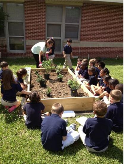 New butterfly garden at Brusly Elementary School